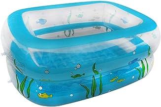 XINDUO Piscina Hinchable Infantil,Piscina Hinchable Rectangular-Azul_110 * 90 * 40,Piscina Hinchable Familiar Swim Center