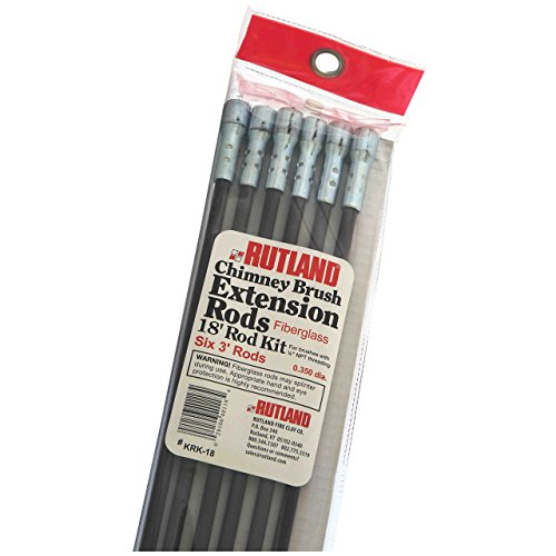 Great Features Of Rutland KRK-18 Fiberglass Chimney Brush Rod Kit (Renewed)