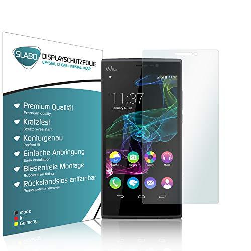 Slabo 4 x Bildschirmschutzfolie für Wiko Ridge Fab 4G LTE Bildschirmfolie Schutzfolie Folie Zubehör Crystal Clear KLAR