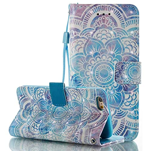 Herbests Cover iPhone 8 Plus (5.5') in Pelle, iPhone 7 Plus Custodia Flip Stand Case Libro Wallet Copertura - 3D Disegni Glitter Bling Elegante Colorate Dipinto Cover Chiusura Magnetica Case