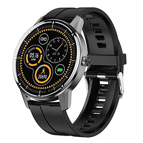 Reloj inteligente, Hombres Deporte Full Touch Sport IP68 Impermeable Pulsera inteligente Monitoreo del sueño Reloj inteligente,Fitness al aire libre 1.3in Contador pasos Rastreador, para IOS Android