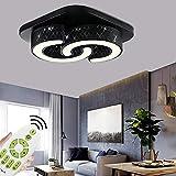 JINPIKER Lámpara LED de techo regulable de 64 W,...