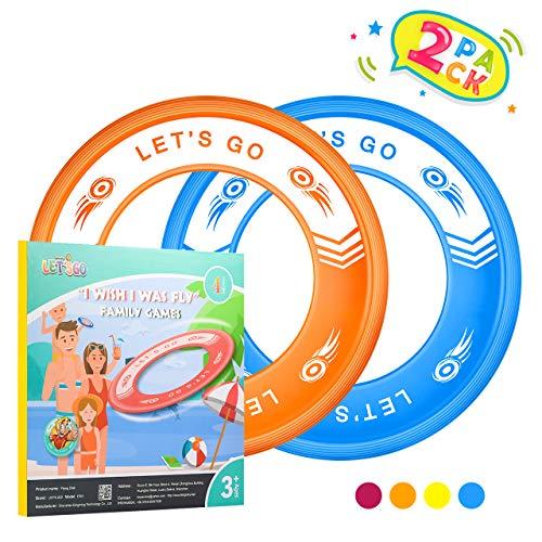 Tesoky Outdoor Spiele für Kinder, Flying Ring Spielzeug ab 4-12 Jahren für Jungen Kinder gartenspielzeug Geschenke für Mädchen 4-12 Jahre Kinder wasserspielzeug Orange-Blau
