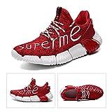 JUST ALONE Zapatillas Deportivas de Hombre, Zapatillas de Correr Aire Libre Deportes Casual Ligeras para Transpirable (Color : 2078 Red, Size : EU 43)