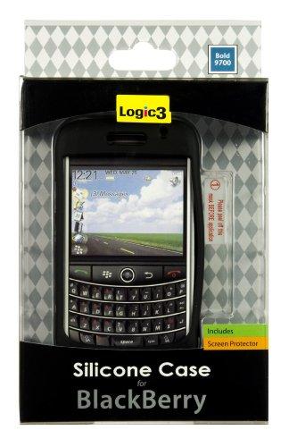 Logic3 Silicon Case & Screen Protector für Blackberry Bold 9700
