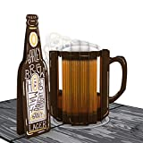 Lovepop Beer Pop Up Card - 3D Card, Father's Day Card, Beer Greeting Card, Card for Dad, Dad Pop Up Card, Celebration Card, Birthday Card