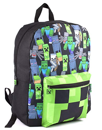 Minecraft All Over Print Kids Black Backpack