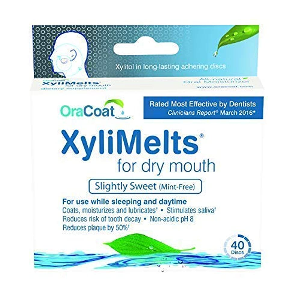 XyliMelts for Dry Mouth, Mint-Free (240 Discs) by ORAHEALTH