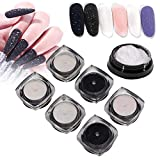Nail Dipping Powder, 6 couleurs Nail Art Glitter Powder Professional Glitter Powder Salon Nail Art Powder Set Fantastic DIY Nail Art Starter Kit for Home or Salon Use(1)