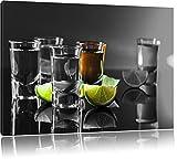 Tequila Shots mit Limetten schwarz/weiß Format: 60x40 auf