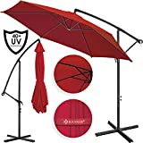 [page_title]-Kesser® Alu Ampelschirm Ø 350 cm mit Kurbelvorrichtung UV-Schutz Aluminium Wasserabweisende Bespannung - Sonnenschirm Schirm Gartenschirm Marktschirm Rot