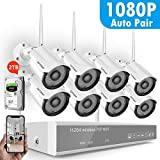 [2TB Hard Drive Pre-Install] 1080P Full HD Security Camera System