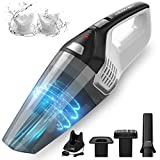 Homasy Handheld Vacuum Cordless, 8Kpa Hand Vacuum with Powerful Cyclonic...