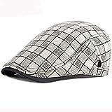AHECZZ Hut,Männer Ballon- FlatcapBeretFrühling,Sommer,Sonnenhut 55-60cmadjustable Weiß