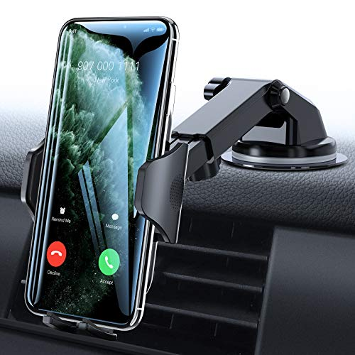VICSEED Car Phone Mount Thick Case amp Big Phones Friendly Long Arm Suction Cup Phone Holder for Car Dashboard Windshield Air Vent Hands Free Clip Cell Phone Holder Compatible with All Mobile Phones