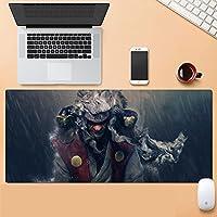 ゲーミングマウスパッド、大きなマウスパッド ラップトップコンピューター、デスクカバーコンピューターのためのNa-Rutoの大型カスタムマウスパッドパッドパッドのパッドは、キーボードステッチエッジオフィス理想マウスマット--アニメ_800*300*3
