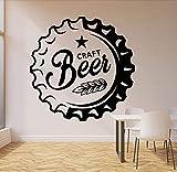 Pegatinas De Pared Calcomanías Papel Tapiz Bebiendo Alcohol Bar Pub Cerveza Artesanal Logotipo Puerta Ventana Vinilo Extraíble Decoración Artística 57X57 Cm