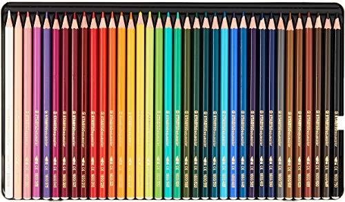 STABILO aquacolor matita colorata acquarellabile colori assortiti - Scatola di metallo da 36