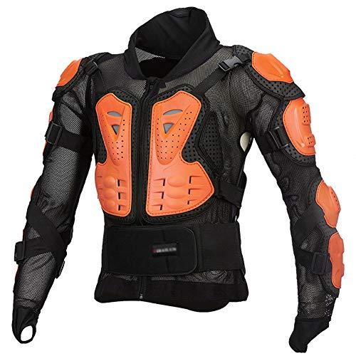 LAIABOR Moto Chaqueta Protectora Cuerpo Armadura Profesional De Motocicleta Protección del Cuerpo Entero Spine Chest para Motocicleta, Ropa De Protección para Hombres Mujeres,Naranja,XXXXL