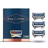 King C. Gillette Lamette per Rasoio per Il Collo da Uomo, 3 Pezzi
