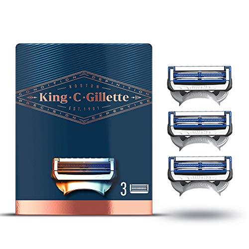 King C. Gillette Lamette per Rasoio per Il Collo da Uomo, 3