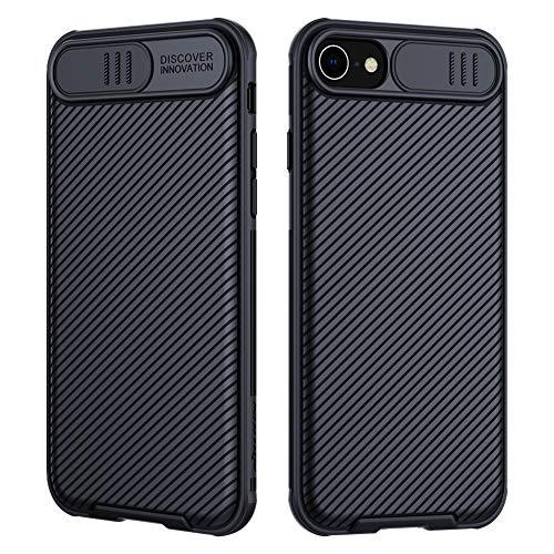 NILLKIN Funda iPhone SE 2020/ iPhone 8/iPhone 7, [Protección de la cámara] Estuche híbrido Parachoques Premium no voluminoso Delgado Funda rígida para PC para iPhone SE 2020/ iPhone 8/iPhone 7