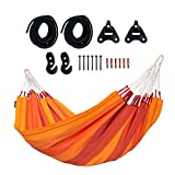 LA SIESTA - Orquídea Volcano - Hamaca clásica Individual de algodón Incluye Set de Montaje