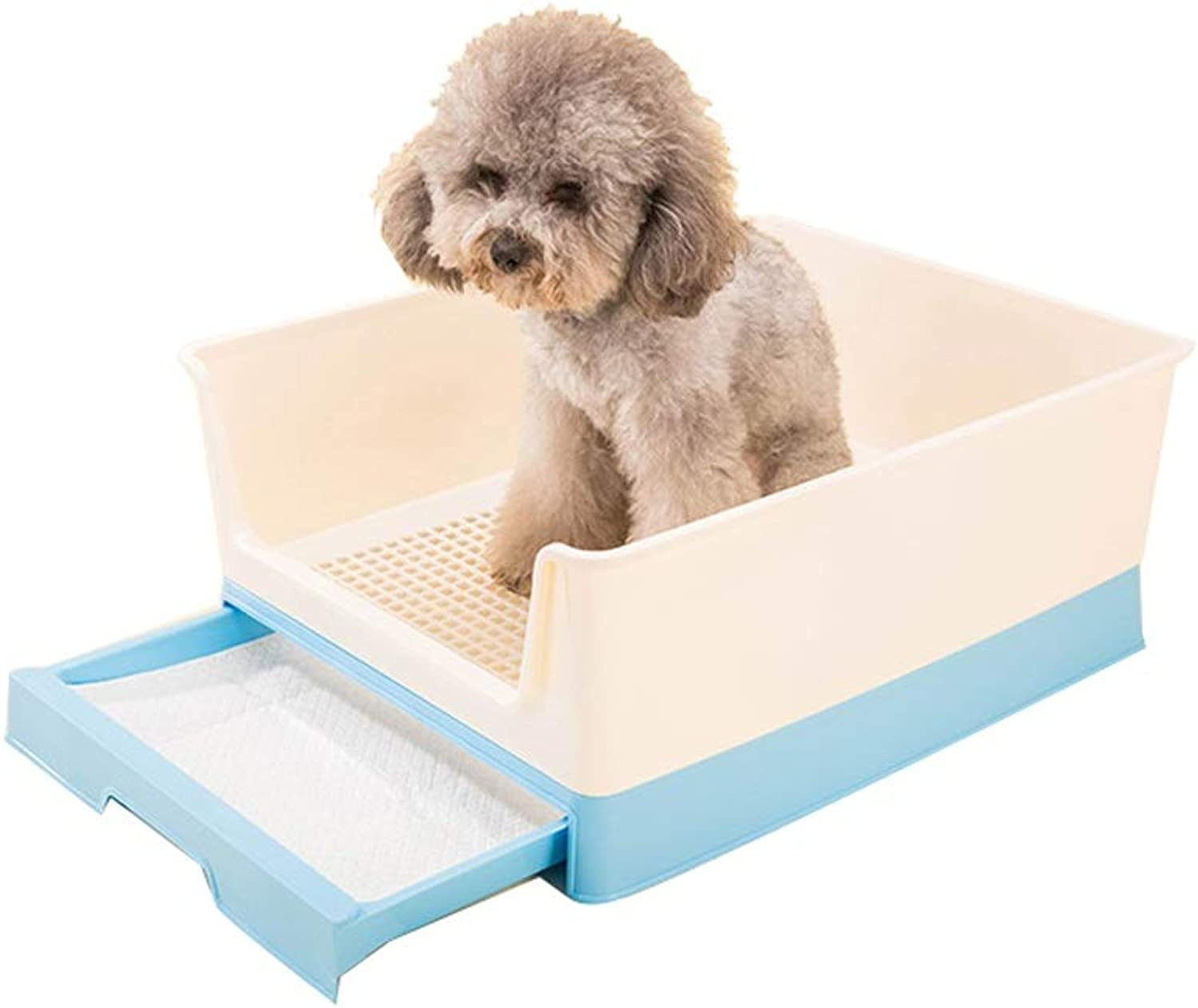 Cat Litter Boxes Pet Toilet Medium Dog Large Dog Large Urinal Pet Artifact Male Dog Toilet Potty with Drawer Easy to Clean Stool Urinal (color   bluee)