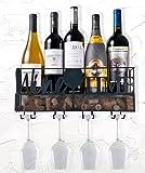 Ranita Home & Style- Wine Rack Wall Mounted - Wine Cork and Wine Glass Holder - Hanging Wine Rack - Wine Bottle Holder - Kitchen Decor - Wine Storage