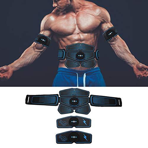 HURRISE Bauchmuskeltrainer, EMS Trainingsgerät für Arm Bauch Beine Bizeps Trizeps, USB Elektromuskelstimulation, Muskelstimulator für Körperbauund Fettverbrennung
