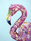 Daisy Colorful Flamingo, whimsical Flamingo,...