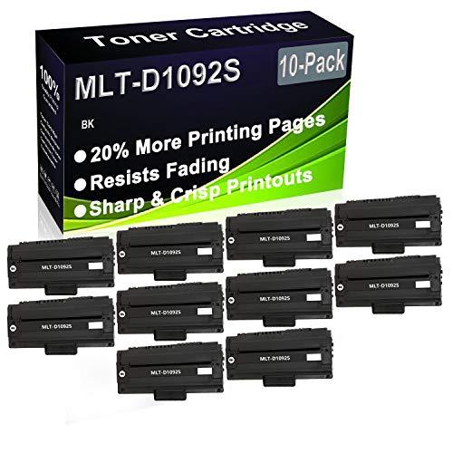 Paquete de 10 cartuchos de tóner negro compatibles MLT-D1092S (alta capacidad) para impresoras Samsung SCX-4300 SCX-4301 SCX-4610 SCX-4300K