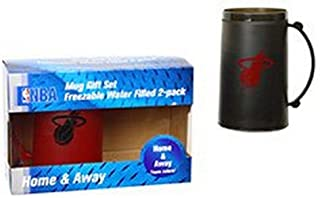 NBA Officially Licensed Freezer Mug 2 Pack  Home   Away H20 Mug Set (Miami 5b6d76b45