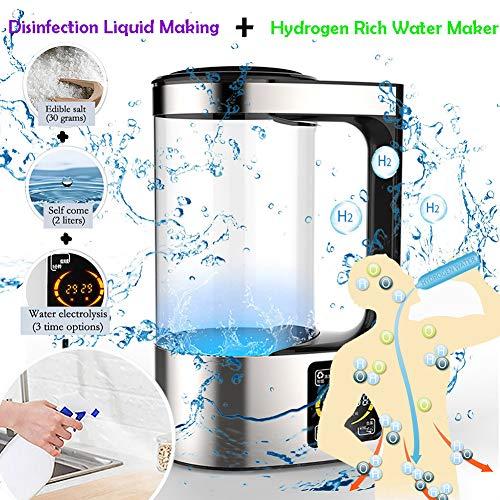 2000 Ml Desinfectante Fabricante De Agua Desinfectante 100% Natural Que Hace La Máquina Electrolítica De Sal Y Agua para La Desinfección Ambiental del Hogar