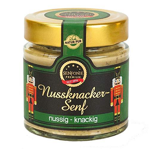 Altenburger Original Senfonie Premium Nussknacker Senf, 180ml im Glas, mild nussiger Senf mit Nussstücken wie aus dem Nussknacker
