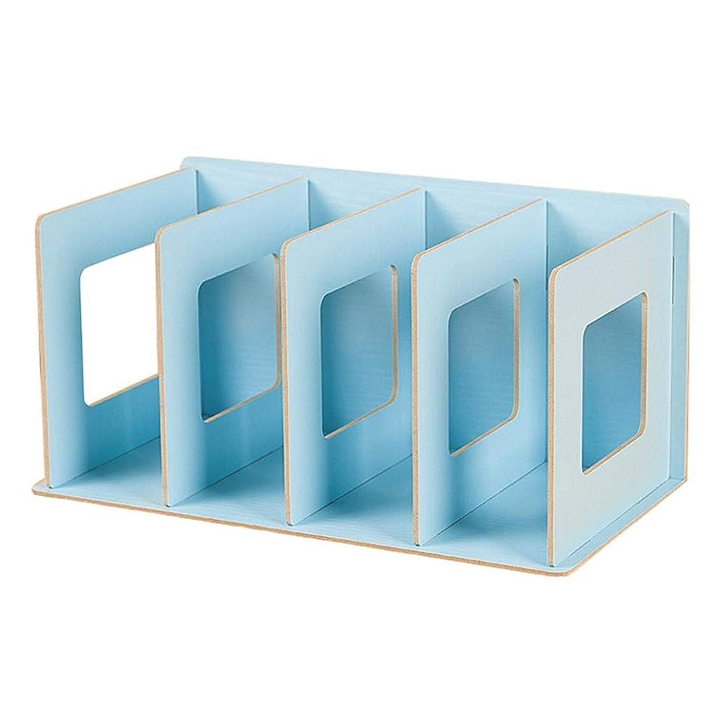 ロッジサスペンションオークションchenchang 4グリッド木製本棚収納ラックフラット本棚本棚オーガナイザーホームシンプル本棚