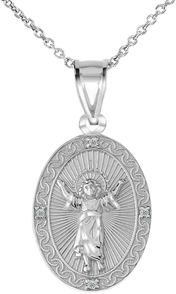 Bargain 925 Sterling Silver Cubic Zirconia Child Divino Divine Niño Limited time for free shipping Jesú