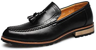 [MAZU] 革靴 メンズ スリッポン ビジネスシューズ ローファー フリンジ レザースリッポン おしゃれ 紳士靴 カジュアル ペニーローファー タッセル イギリス風 ブリティッシュ