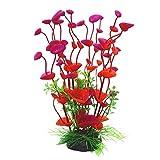 Plante artificielle en plastique pour décoration d'aquarium, Red, Taille unique