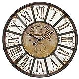 Brio 34326Reloj Charme Indus diametre 60Metal marrón y Blanco 4x 60x 60cm