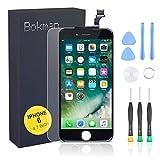bokman Display Reparaturset kompatibel mit Schwarz iPhone 6 (inkl. Glas, Retina LCD, Touchscreen), Passendes Profi-Werkzeugset enthalten