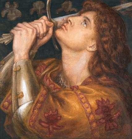 Joan of Arc 1864 Poster Print by Dante Gabriel Rossetti (24 x 24)