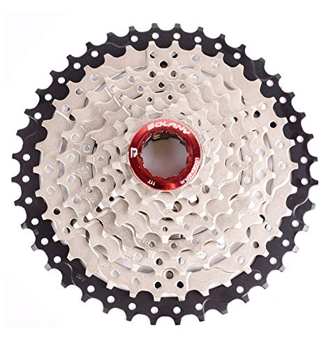 BOLANY 8-9-10-11-12 Speed Cassette 11-32T 11-36T 11-40T 11-42T 11-46T 11-50T 11-52T Wide Ratio MTB Bicycle Part Freewheel Sprocket (8 Speed 11-42T)