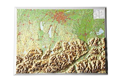Relief Bayerisches Oberland (1:400.000)