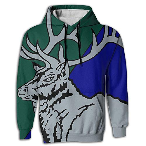 Ayzhdsalq VMM-166 3D Patterns Print Athletic Fashion Pullover Hoodies Sweatshirts White