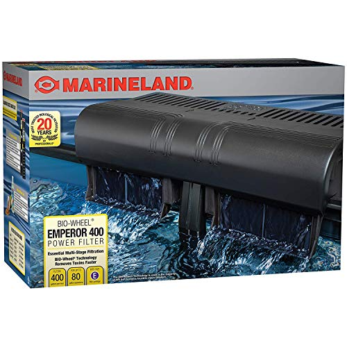 Marineland Emperor 400 Pro Series Bio-wheel Power Filter - Up to 80 gallon, Rite Size 'E'