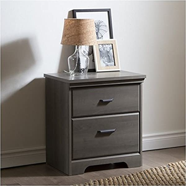 Pemberly Row 2 Drawer Night Stand In Gray Maple