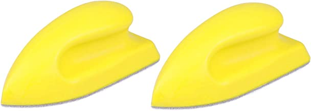 LIOOBO Universal Car Seat Cleaning Brush Leather Cleansing for Car Vehicle Furniture 2pcs (Yellow)