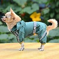 反射犬のレインコート防水ペット服レインジャケットペットの小さな子犬のための安全レインウェア-G_S_
