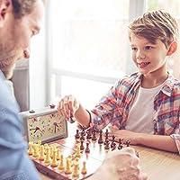 UNEEDE Magnetici Scacchi e Dama con Confezione Portatile,2-in-1 Scacchiera Standard Pieghevole Gioco Intelligente per Bambini Adulti 32*32cm #5